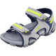 Hi-Tec GT Strap Sandals Kids Cool Grey/Majolica Blue/Limoncello